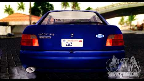 Ford Escort RS Cosworth pour GTA San Andreas vue intérieure