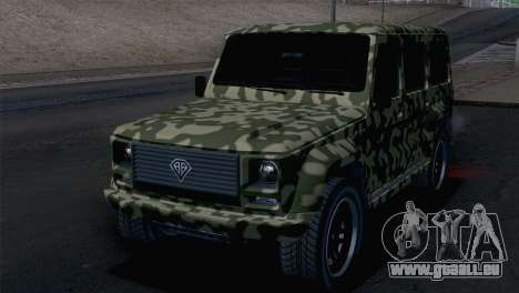GTA 5 Benefactor Dubsta IVF pour GTA San Andreas vue de côté
