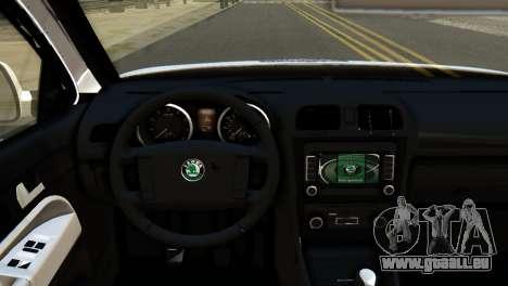 Skoda Octavia Scout Police pour GTA San Andreas vue de droite