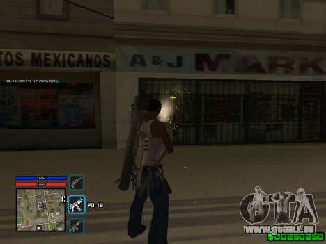C-HUD Only Ghetto für GTA San Andreas her Screenshot
