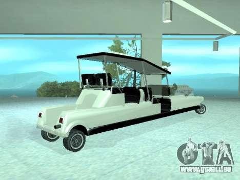 Limgolf pour GTA San Andreas laissé vue