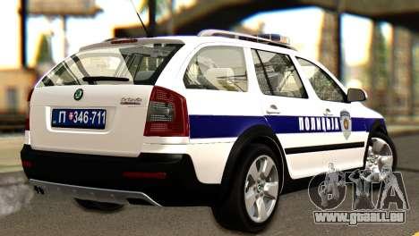Skoda Octavia Scout Police pour GTA San Andreas laissé vue