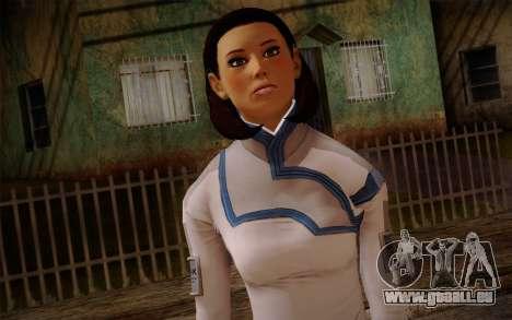 Dr. Eva Sci Fi New Face from Mass Effect für GTA San Andreas dritten Screenshot