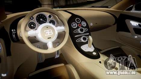 Bugatti Veyron 16.4 v2.0 pour GTA 4 est une vue de l'intérieur