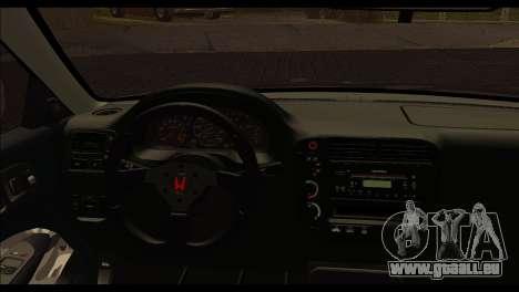 Honda Civic 1997 pour GTA San Andreas sur la vue arrière gauche