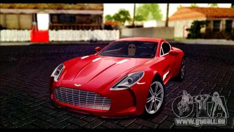 Aston Martin One-77 Black Beige pour GTA San Andreas
