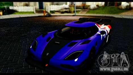 Koenigsegg One:1 v2 für GTA San Andreas Seitenansicht