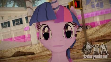 Twilight Sparkle from My Little Pony pour GTA San Andreas troisième écran