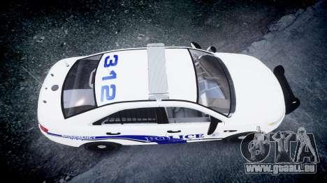 Ford Taurus 2014 Liberty City Police [ELS] pour GTA 4 est un droit