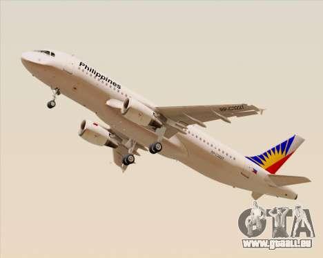Airbus A320-200 Philippines Airlines für GTA San Andreas rechten Ansicht