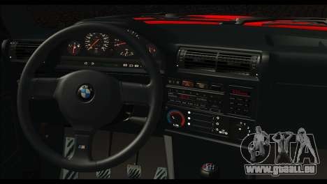 BMW M3 E30 Stock pour GTA San Andreas sur la vue arrière gauche