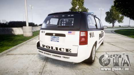 Dodge Grand Caravan LCPD [ELS] für GTA 4 hinten links Ansicht