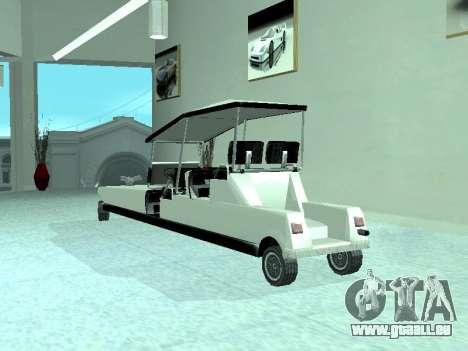 Limgolf pour GTA San Andreas vue arrière