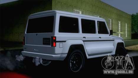 GTA 5 Benefactor Dubsta IVF pour GTA San Andreas laissé vue