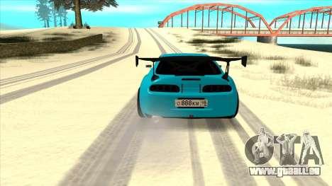 Toyota Supra Blue Lightning pour GTA San Andreas vue de droite