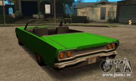 Beta Savanna pour GTA San Andreas vue intérieure