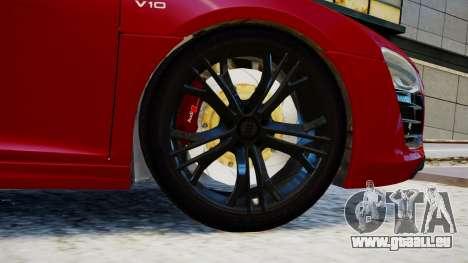 Audi R8 V10 Plus 2014 v1.0 pour GTA 4 Vue arrière de la gauche
