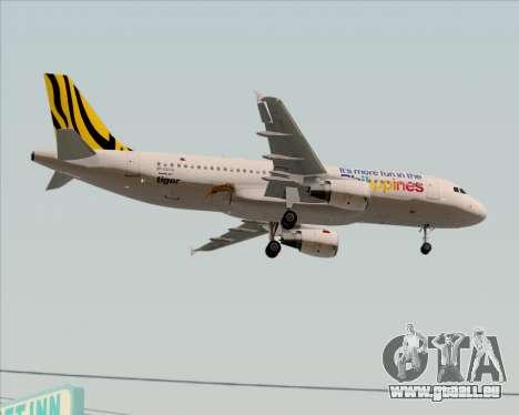 Airbus A320-200 Tigerair Philippines pour GTA San Andreas vue intérieure