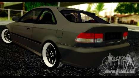 Honda Civic 1997 pour GTA San Andreas laissé vue