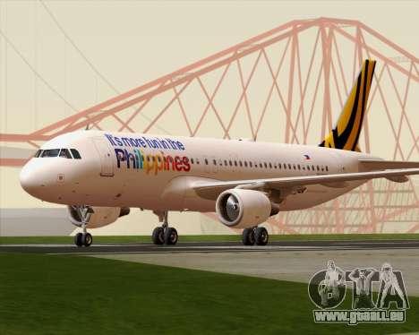 Airbus A320-200 Tigerair Philippines für GTA San Andreas linke Ansicht