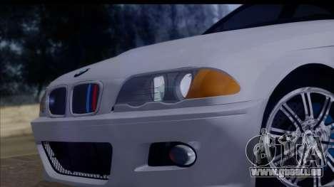 BMW M3 E46 Sedan pour GTA San Andreas vue arrière
