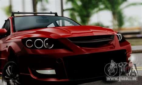 Mazda 3 MPS pour GTA San Andreas sur la vue arrière gauche