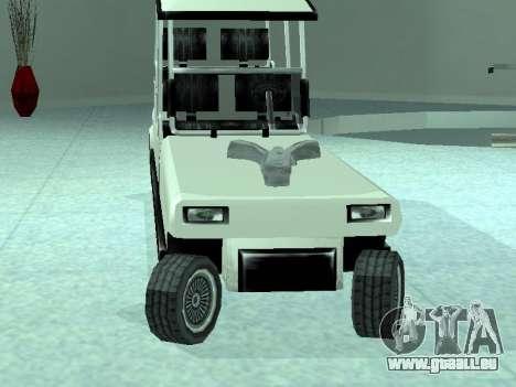 Limgolf pour GTA San Andreas sur la vue arrière gauche