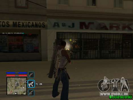 C-HUD Only Ghetto für GTA San Andreas dritten Screenshot