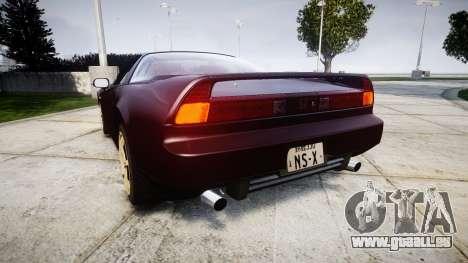 Honda NSX-R NA1 1992 [EPM] pour GTA 4 Vue arrière de la gauche