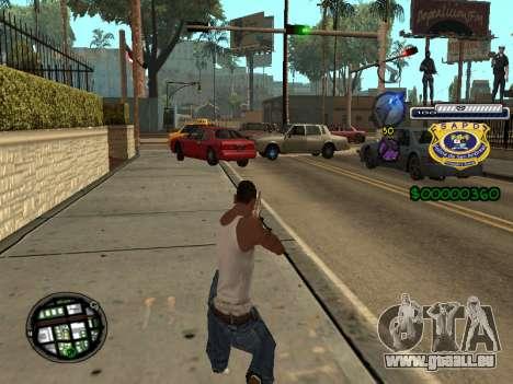 C-HUD Police S.A.P.D pour GTA San Andreas deuxième écran