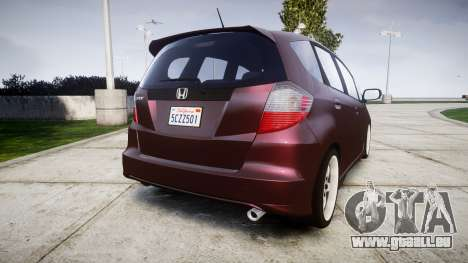 Honda Fit 2006 für GTA 4 hinten links Ansicht