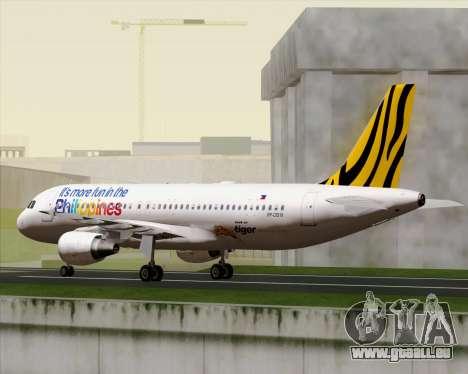 Airbus A320-200 Tigerair Philippines pour GTA San Andreas vue de côté