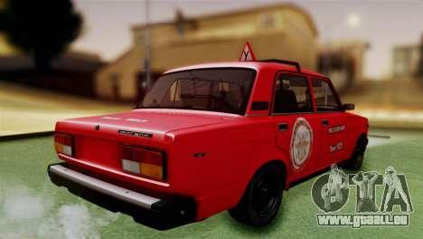 VAZ 2107 Auto École pour GTA San Andreas laissé vue