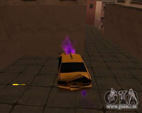 Indicateur de HP de la voiture pour GTA San Andreas deuxième écran