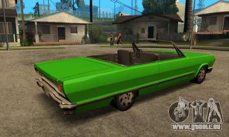 Beta Savanna für GTA San Andreas Rückansicht