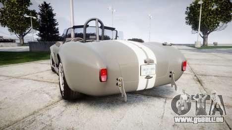 AC Cobra 427 PJ1 pour GTA 4 Vue arrière de la gauche