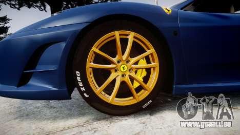 Ferrari F430 Scuderia 2007 plate Scuderia pour GTA 4 Vue arrière
