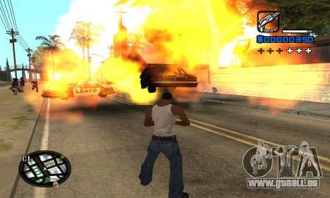 Samaro C-HUD pour GTA San Andreas quatrième écran