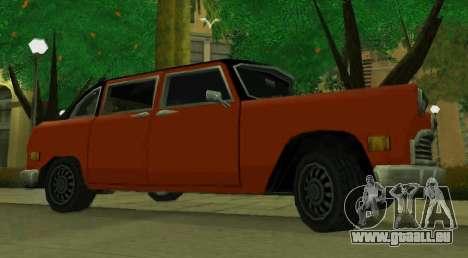 Cabbie Restyle pour GTA San Andreas laissé vue