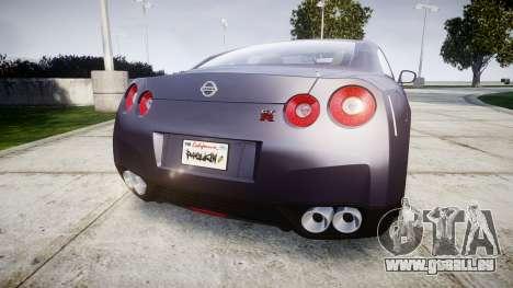 Nissan GT-R R35 2012 pour GTA 4 Vue arrière de la gauche