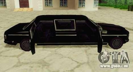 Admiral Limousine für GTA San Andreas zurück linke Ansicht