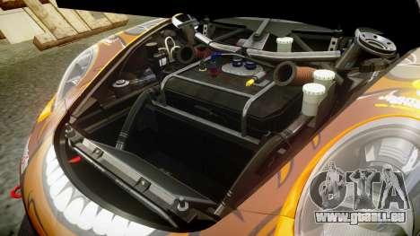RUF RGT-8 GT3 [RIV] Bear pour GTA 4 est une vue de l'intérieur