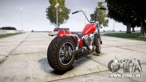Western Motorcycle Company Daemon pour GTA 4 Vue arrière de la gauche