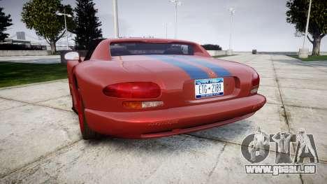 Dodge Viper RT-10 1992 für GTA 4 hinten links Ansicht