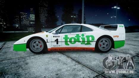 Ferrari F40 1987 [EPM] Jolly Club für GTA 4 linke Ansicht