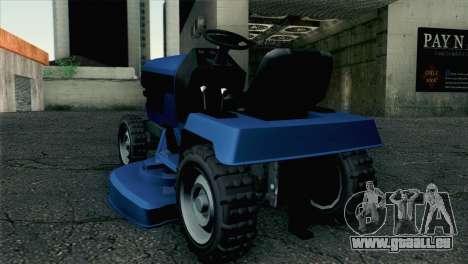 GTA V Mower pour GTA San Andreas laissé vue