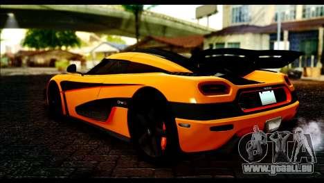Koenigsegg One:1 v2 pour GTA San Andreas laissé vue