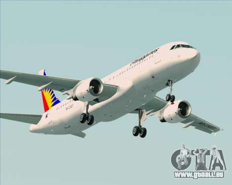 Airbus A320-200 Philippines Airlines pour GTA San Andreas moteur