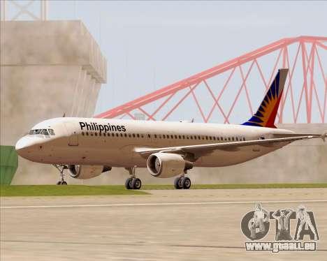 Airbus A320-200 Philippines Airlines pour GTA San Andreas vue de dessous