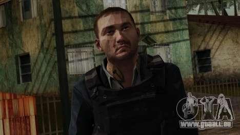 Modern Warfare 2 Skin 20 pour GTA San Andreas troisième écran